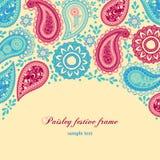πλαίσιο Paisley Στοκ Εικόνες