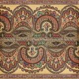 Античная предпосылка индейца paisley сбора винограда Стоковые Фото