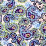 предпосылка цветастый paisley безшовный Стоковые Фото