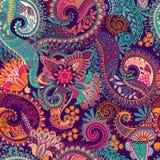 картина paisley безшовная Стоковая Фотография RF