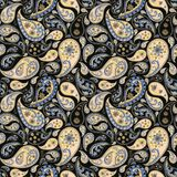 Paisley seamless abstract background royalty free illustration