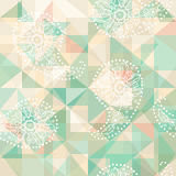 Paisley abstract pattern on geometric background Royalty Free Stock Photography