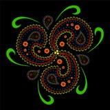 Paisley azjata styl ilustracja wektor