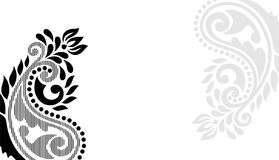 Paisley background design for Calligraphy Royalty Free Stock Photography