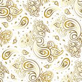 Paisley background. Hand Drawn ornament. Vector illustration Royalty Free Stock Photo