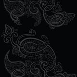 Paisley background. Hand Drawn ornament. Royalty Free Stock Photography