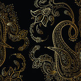 Paisley background. Hand Drawn ornament. Royalty Free Stock Image
