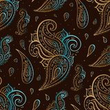 Paisley background. Hand Drawn ornament. Vector illustration Royalty Free Stock Photography
