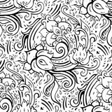 Paisley background. Hand Drawn ornament. Vector illustration Royalty Free Stock Photos