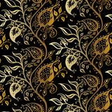 Paisley background. Hand Drawn ornament. Vector illustration Stock Images