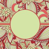 Paisley background with text box Stock Photos