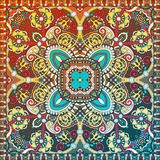 Paisley bandanna to print on fabric Stock Image