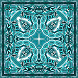 Paisley bandanna to print on fabric Royalty Free Stock Images
