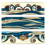 Paisley Batik Background. Ethnic African Cards. Royalty Free Stock Photo