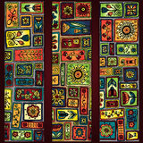 Paisley batik background. Ethnic african cards. Royalty Free Stock Image