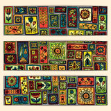 Paisley batik background. Ethnic african cards. Stock Images
