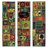 Paisley batik background. Ethnic african cards. Stock Photos