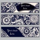 Paisley batik background. Ethnic doodle cards. Stock Photo