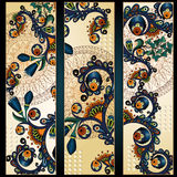 Paisley batik background. Ethnic tribal cards. Stock Image