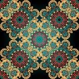 paisley bezszwowy Mandala abstrakta wzór Kafelkowy wektor Azjatycki ozdobny druk ilustracji