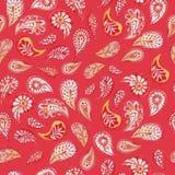 paisley bezszwowy wzoru Czerwony coulor Obraz Stock