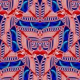 Paisley bloeit stoffenpatroon Abstract ontwerp stock illustratie