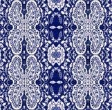 Paisley blu, elaborazione elettronica delle foto Fotografia Stock Libera da Diritti