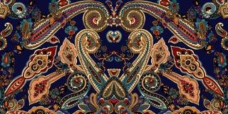 Paisley-boho Muster Stockfoto
