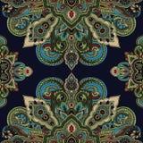 Paisley boho pattern Stock Images