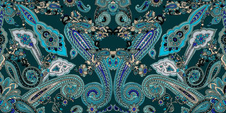 Paisley boho pattern Royalty Free Stock Photography
