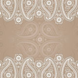 Paisley  border lace design template Royalty Free Stock Images