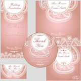 Paisley  border lace design template Stock Photos