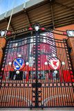 Paisley brama przed Anfield stadium zdjęcia royalty free