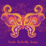 Paisley butterfly Royalty Free Stock Photography