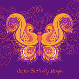 Paisley butterfly vector illustration