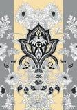 Paisley chryzantemy sztandar Zdjęcie Royalty Free