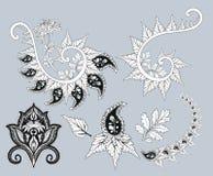 Paisley chryzantemy wektorowy żarcie Fotografia Royalty Free