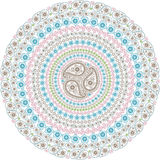 Paisley circle composition .Oriental motif Stock Images