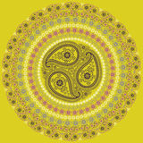 Paisley circle composition .Vector Oriental motif Stock Photo