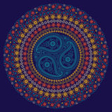 Paisley circle composition .Vector Oriental Stock Photography