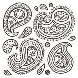 Paisley collection. Stock Photos
