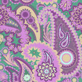 Paisley Colorful Background. Royalty Free Stock Photo