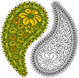 Paisley - Colorful or Black and White. To add to your designs Stock Images