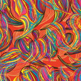 Paisley colorful line seamless pattern Stock Image