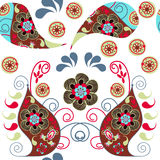 Paisley colorful  odd seamless pattern and seamless pattern in s Royalty Free Stock Photos