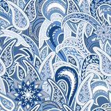 Paisley Colorful Seamless Background. Stock Image