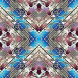 Paisley 3d sömlös modell blom- vektor för abstrakt bakgrund stock illustrationer