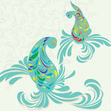 Paisley decoration on vector background Royalty Free Stock Photo