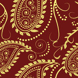Paisley design. Seamless pattern- traditional paisley design Stock Photo
