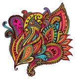 Paisley design. Colourful and vivid paisley design royalty free illustration